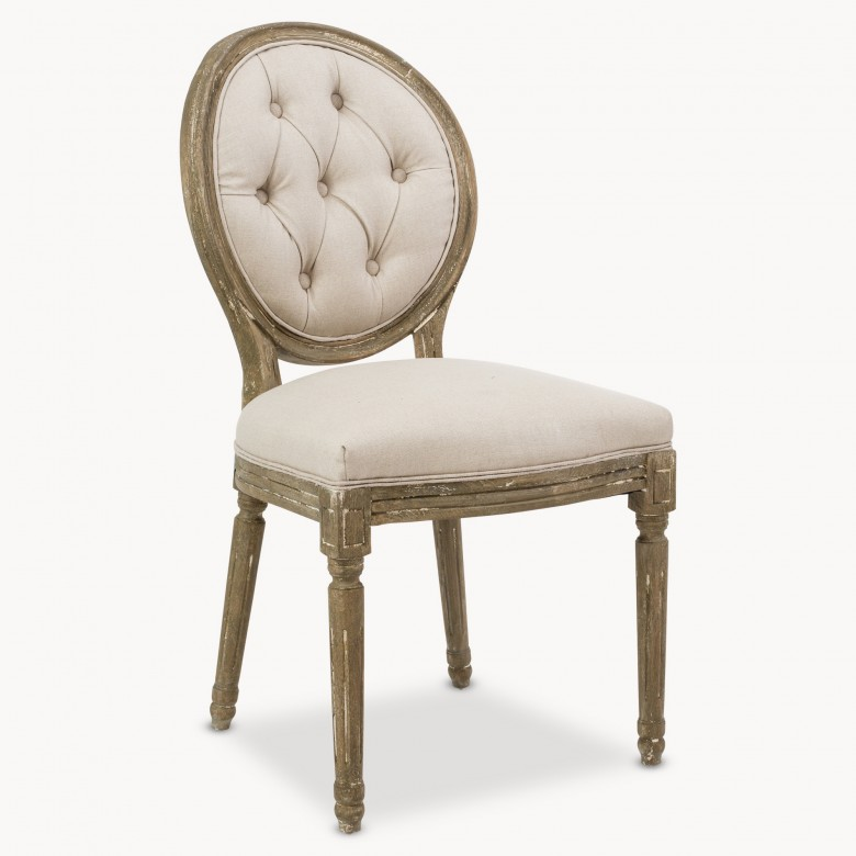 St James Round Button Back Dining Chair Seating