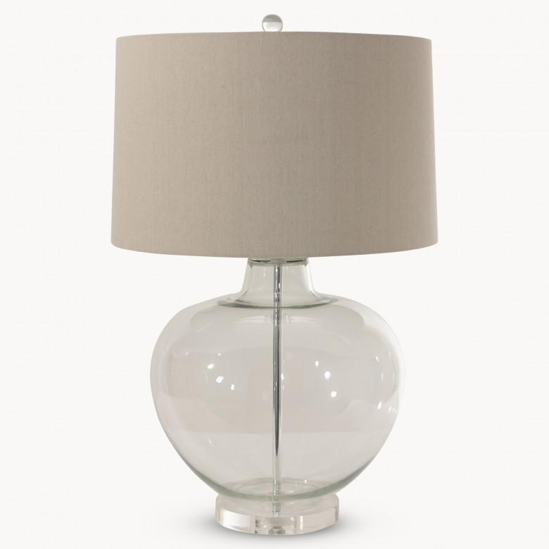 Clifton clear glass table lamp with shade lighting one world trading company - Smashing glass coasters ...