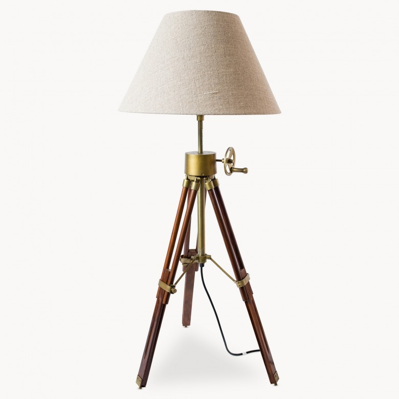Redwood Tripod Lamp And Shade