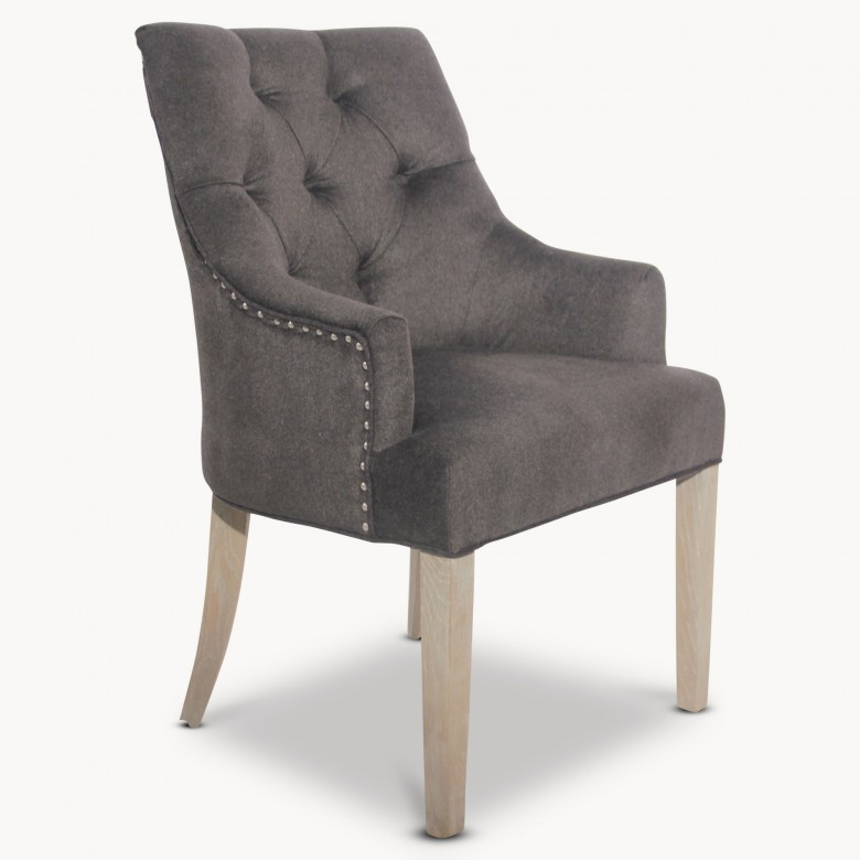 St James Charcoal Grey Padded Wing Dining Chair Seating  : st james charcoal grey padded wing dining chair dv7034 11100 from www.one.world size 780 x 780 jpeg 54kB